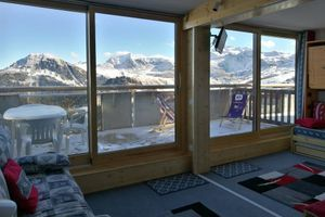 Apartment With one Bedroom in La Plagne Aime 2000, With Wonderful Mountain View and Furnished Terrace - 50 m From the Slopes